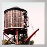 Torre de agua del ferrocarril en los corrales posters