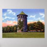 Torre de agua del parque de Wilmington Delaware RO Poster
