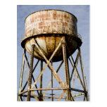 Torre de agua en Alcatraz Tarjeta Postal
