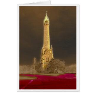 Torre de agua tarjeta pequeña