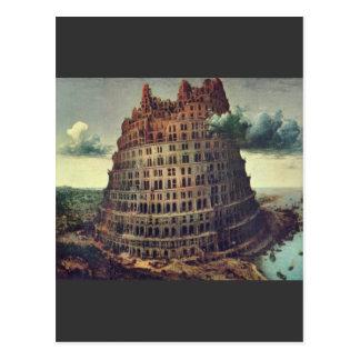Torre de Babel de Pieter Bruegel Tarjeta Postal
