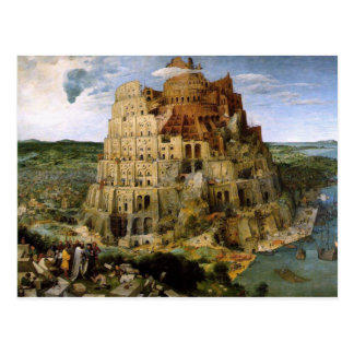 Torre de Babel por Brueghel Postal
