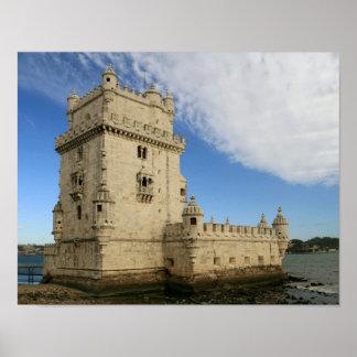 """""""Torre de Belem, Lisboa"""" poster"""