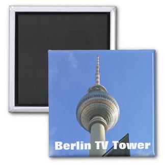 Torre de Berlín TV (Fernsehturm berlinés) Imán Cuadrado