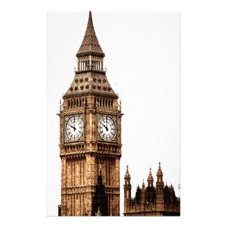 Torre de Big Ben de la sepia Papelería De Diseño
