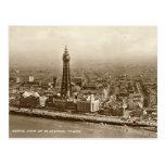 Torre de Blackpool - postal vieja