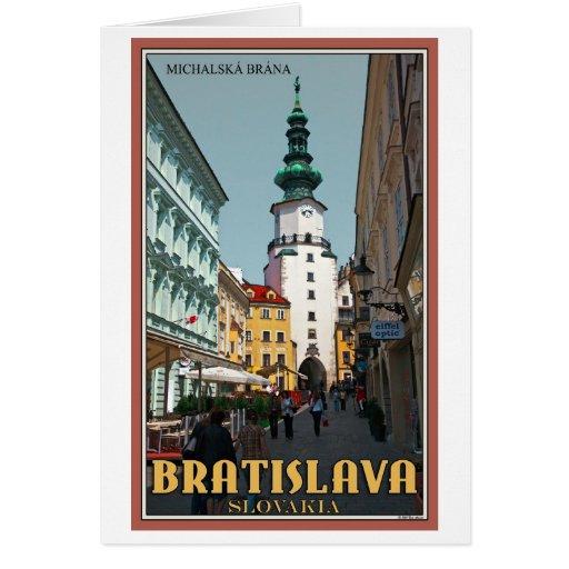 Torre de Bratislava - de Michael Tarjeta De Felicitación