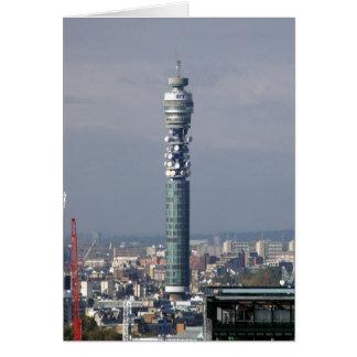 Torre de BT, Londres, Inglaterra Tarjeta De Felicitación