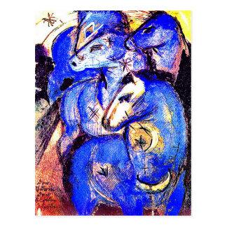 Torre de caballos azules de Franz Marc Tarjeta Postal