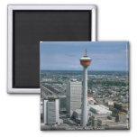 Torre de Calgary, Alberta, Canadá Imán Cuadrado