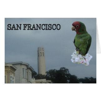 Torre de Coit de San Francisco Tarjeta