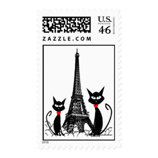 Torre de Effel y sellos de los gatos negros