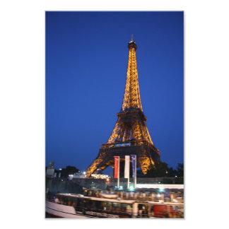 Torre de Effiel en la noche Impresiones Fotográficas