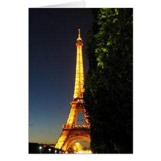 Torre de Eifel Tarjeta De Felicitación