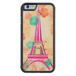 Torre de Eiffel del vintage París Funda De iPhone 6 Bumper Arce