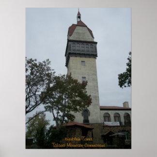 Torre de Heublein - arte del poster o de la lona