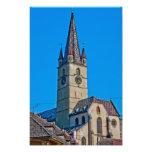 Torre de iglesia evangélica, Sibiu Impresiones Fotograficas