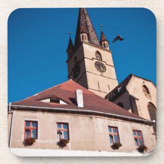 Torre de iglesia evangélica, Sibiu Posavasos De Bebida