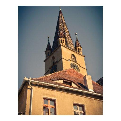 Torre de iglesia evangélica, Sibiu Tarjetones