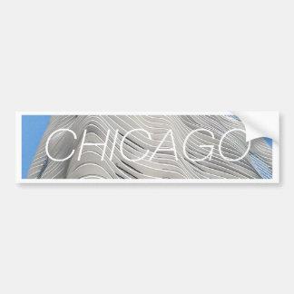 Torre de la aguamarina de Chicago Etiqueta De Parachoque