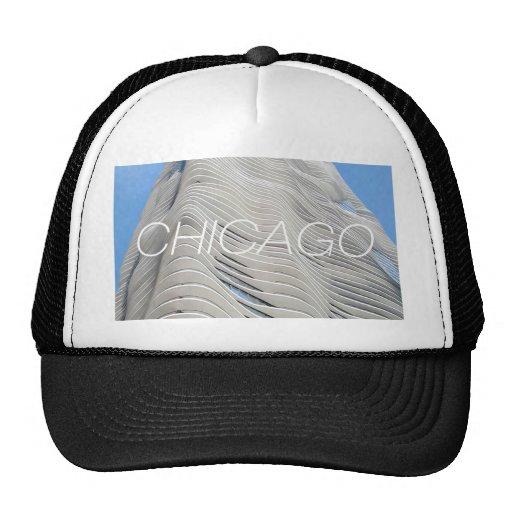 Torre de la aguamarina de Chicago Gorros Bordados