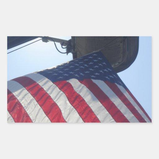 Torre de la antena de la bandera americana del coc rectangular altavoces