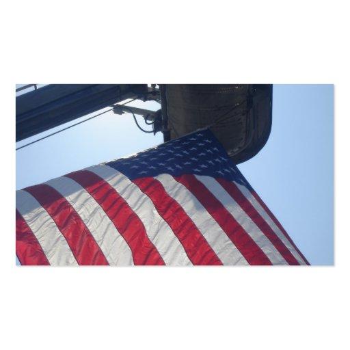 Torre de la antena de la bandera americana del coc plantilla de tarjeta de negocio