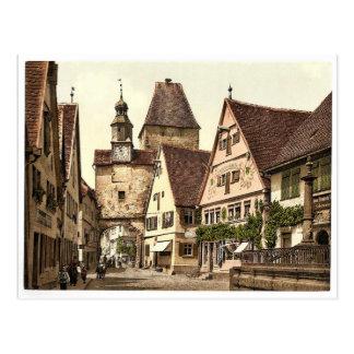 Torre de la arcada y de St Mark, Rothenburg (es de Tarjeta Postal