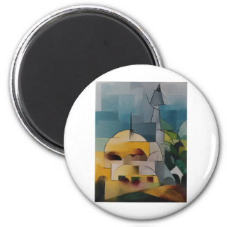 Torre de la arena imán redondo 5 cm