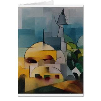 Torre de la arena tarjeta de felicitación