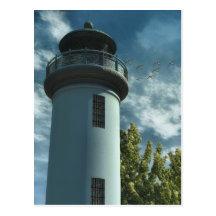 Torre de la casa ligera tarjetas postales