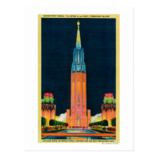 Torre de la exposición, el chapitel al Sun Postales