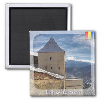Torre de la fortaleza imán cuadrado