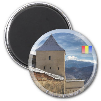 Torre de la fortaleza imán redondo 5 cm
