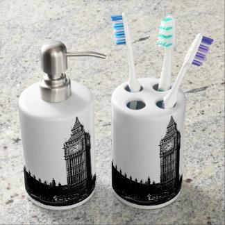Torre de la fotografía blanco y negro de Londres Set De Baño