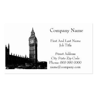 Torre de la fotografía blanco y negro de Londres Plantillas De Tarjeta De Negocio
