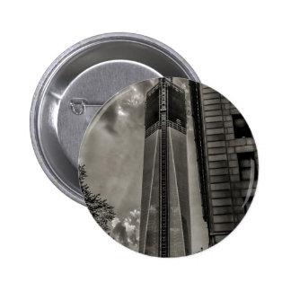 Torre de la libertad del World Trade Center de Nue Pin Redondo De 2 Pulgadas
