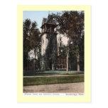 Torre de la misión, vintage de Stockbridge, Massac Tarjeta Postal