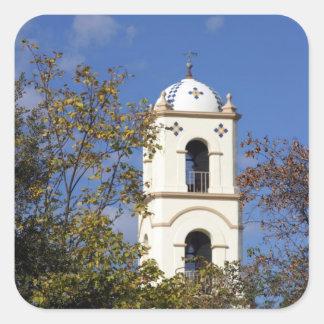 Torre de la oficina de correos de Ojai Pegatina Cuadrada