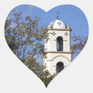 Torre de la oficina de correos de Ojai Pegatina En Forma De Corazón