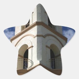 Torre de la oficina de correos de Ojai Pegatina En Forma De Estrella
