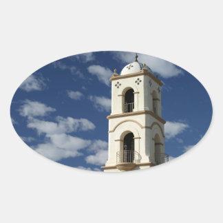 Torre de la oficina de correos de Ojai Pegatina Ovalada