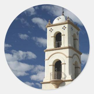 Torre de la oficina de correos de Ojai Pegatina Redonda