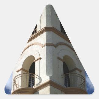 Torre de la oficina de correos de Ojai Pegatina Triangular