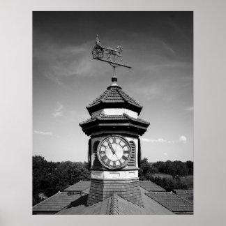 Torre de la paleta y de reloj de tiempo del caball poster