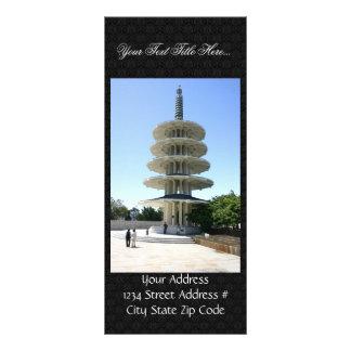Torre de la paz de San Francisco Japantowns Tarjeta Publicitaria A Todo Color