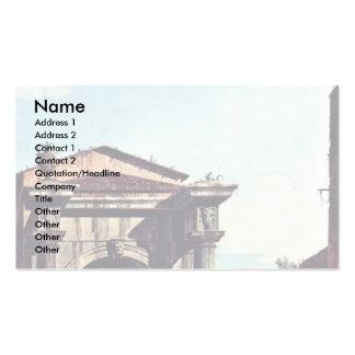 Torre de la puerta y de guardia del romano del cap plantillas de tarjetas personales