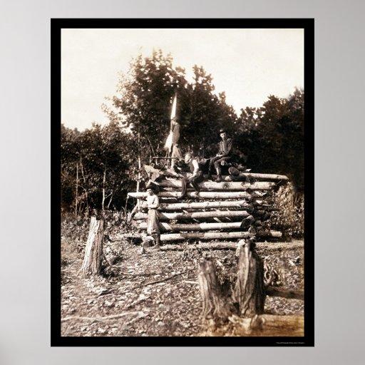 Torre de la señal en el campo de batalla 1862 de A Impresiones