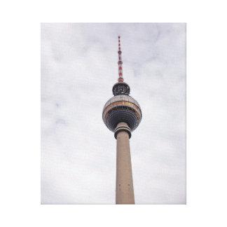 Torre de la TV (Alex) en la lona de Berlín Impresiones En Lona Estiradas