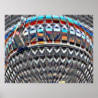 Torre de la TV (Fernsehturm), Berlín, color del ar Impresiones